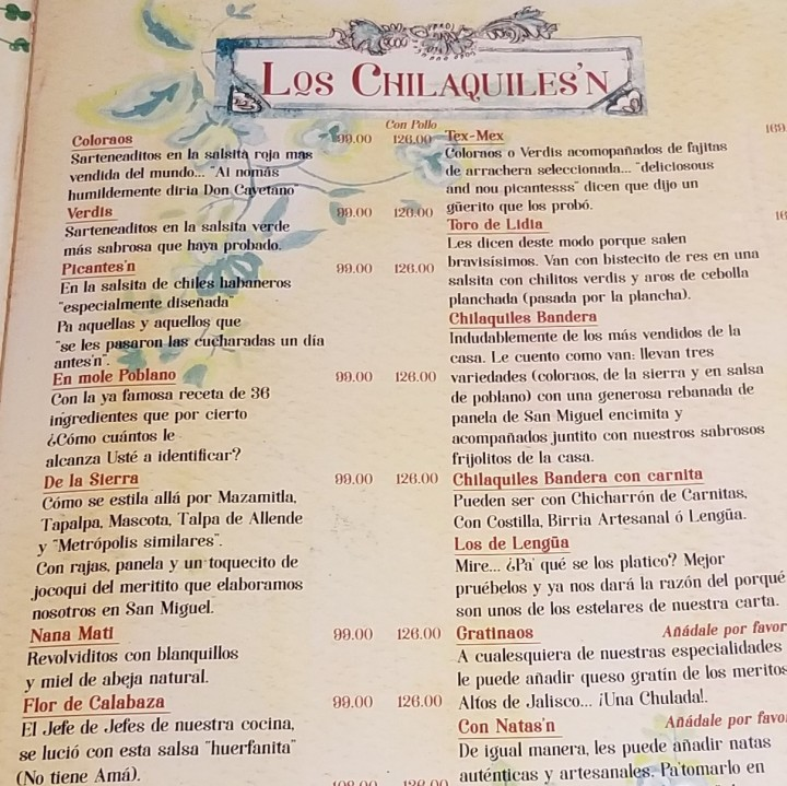 004 Chilaquiles menu