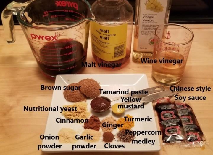 001 Homemade Salsa Inglesa ingredients