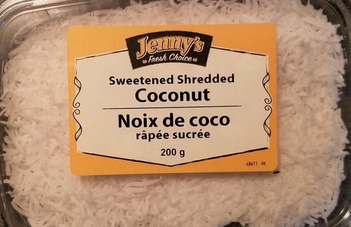 001 shredded sweetened coconut