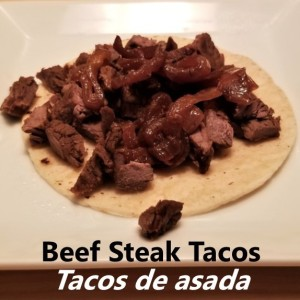 Steak taco - taco de asada My Slice of Mexico