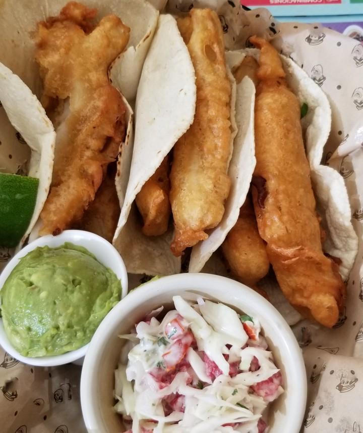 020 fish tacos at Panama restaurant Culiacan 2019