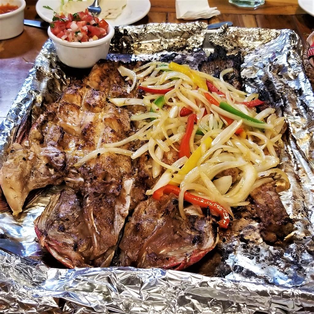Platter of zarandeado fish  My Slice of Mexico