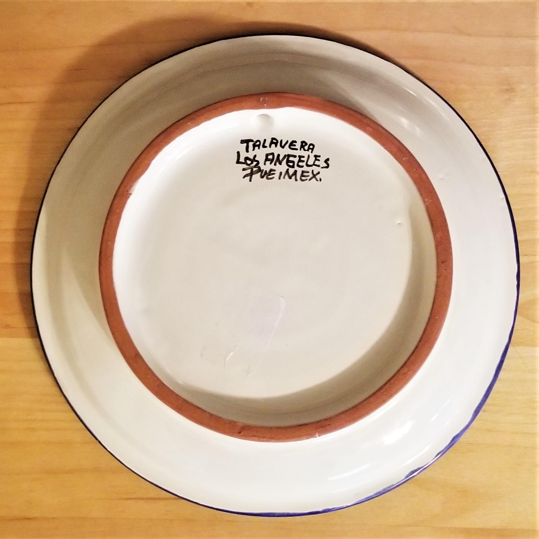 005 Talavera Blue Plate back