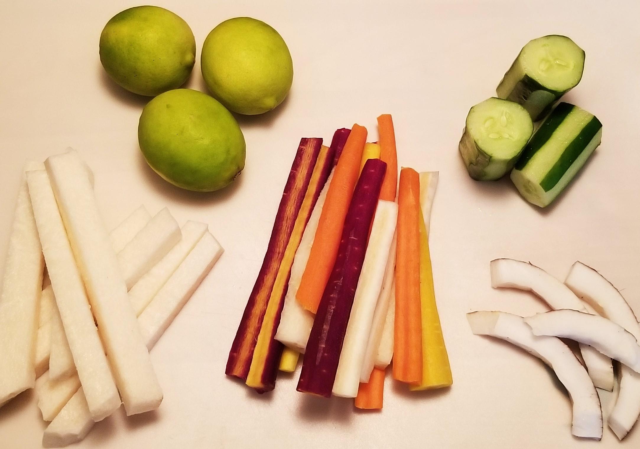 501 prep veggies and limes