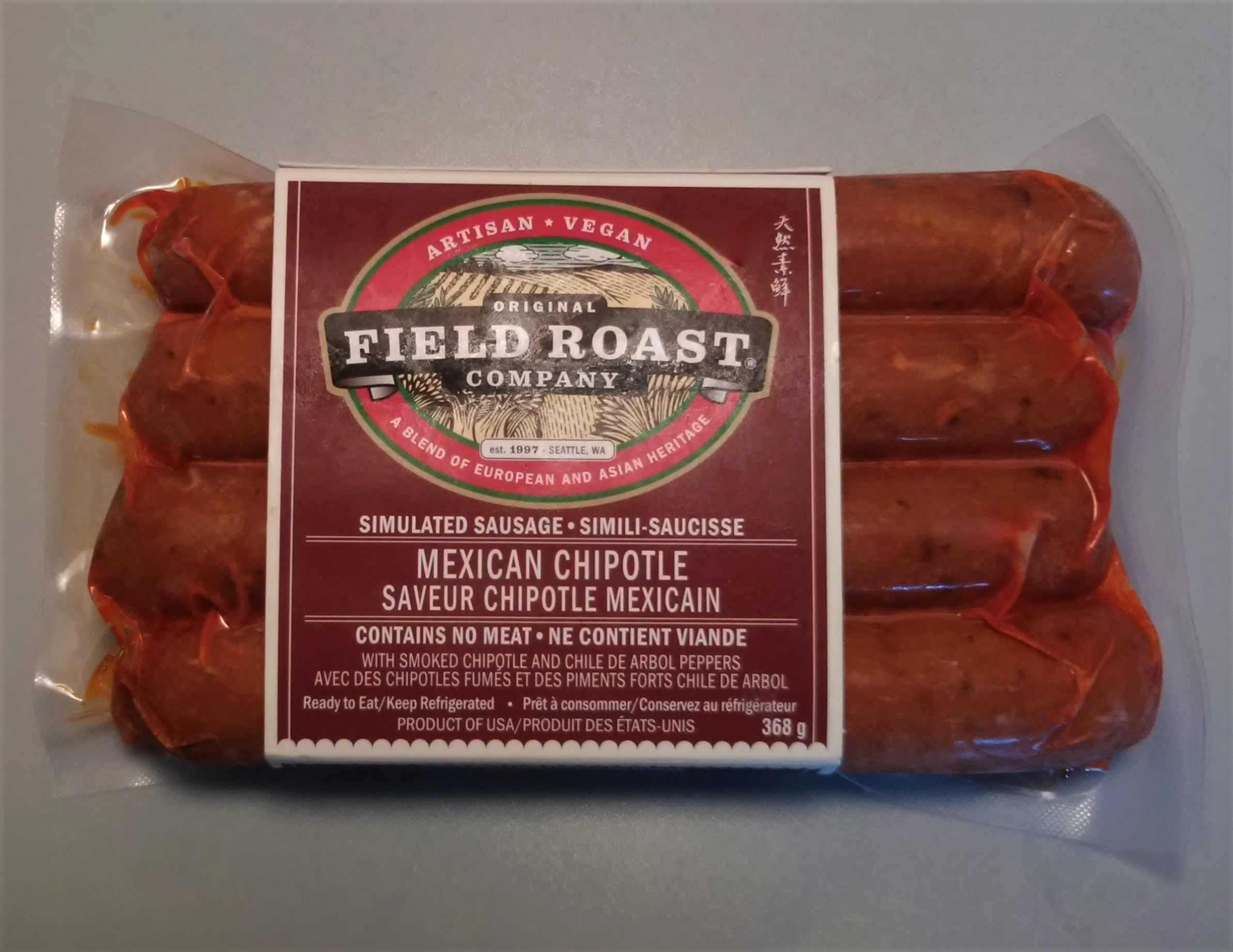 vegetarian sausages with chipotle